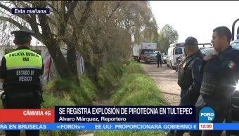 Acordonan polvorín de Tultepec donde una persona murió por explosión de pirotecnia