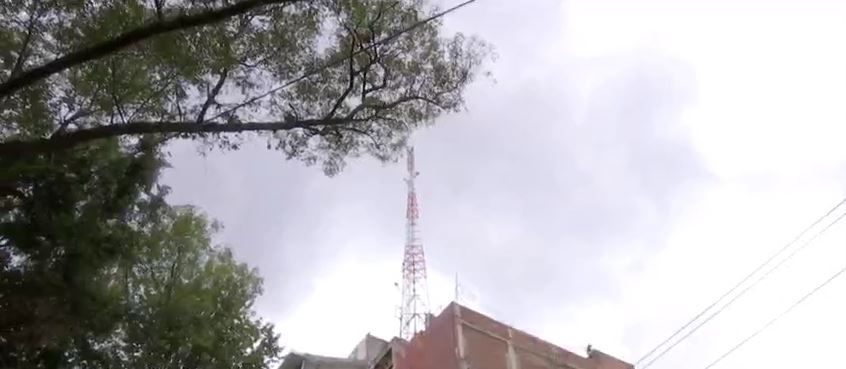 antena en riesgo en edificio cdmx