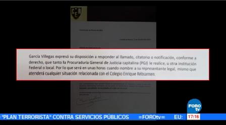 Directora Colegio Enrique Rébsamen Rechaza Haber Recibido Citatorios