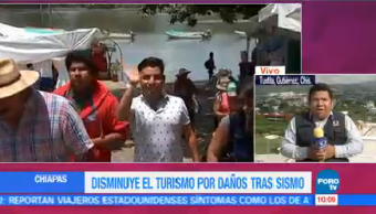 Disminuye turismo Chiapas daños sismo septiembre estado Chiapas