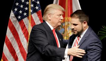 Donald Trump y Carlos Trujllo en septiembre de 2016