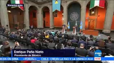 Epn Recibe Primer Ministro Santa Lucía