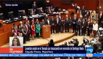 Levantan Sesión Senado Desacuerdo Remoción Santiago Nieto