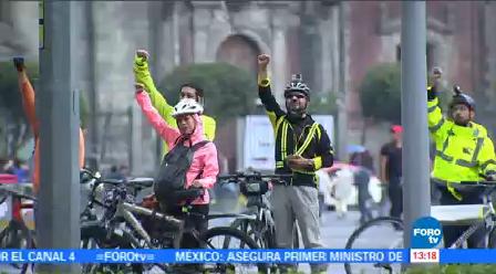 Ciclistas Terremoto Ciudad México Emergencia Provocada