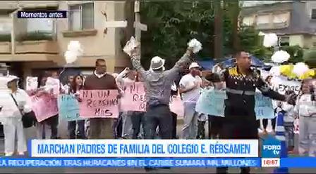 Marchan Padres Familia Colegio Rébsamen Familiares De Estudiantes