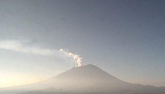 Monitoreo del volcán Popocatépetl del martes 31 de octubre