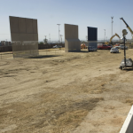 Prototipos del muro fronterizo de Trump en San Diego, California