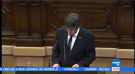 Puigdemont Pospone Independencia Cataluña Carles