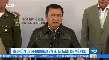 Reunión Gabinete Seguridad Edomex Secretario De Gobernación, Miguel Ángel Osorio Chong