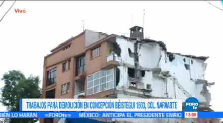 Sigue Demolición Edificio Colapsado Concepción Béistegui 1503 Afectado Sismo