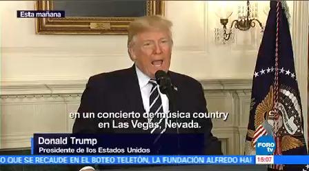 Donald Trump Guarda Minuto Silencio Víctimas Tiroteo Casa Blanca