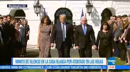 Donald Trump Preside Minuto Silencio Víctimas Las Vegas Mike Pence Tiroteo En Las Vegas