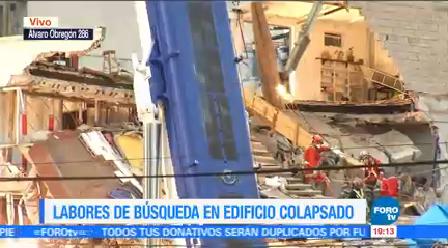 Van 42 Cuerpos Recuperados Edificio Colapsado Álvaro Obregón