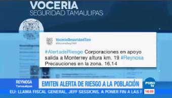 Vocería Seguridad Tamaulipas Emite Alerta Riesgo