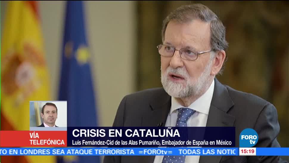 Se busca regreso a la normalidad tras crisis Cataluña: embajador de España