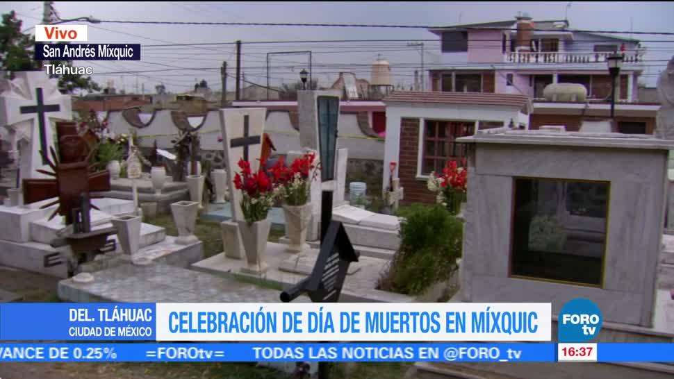 Visitantes, inconformes con falta de ofrendas en Mixquic