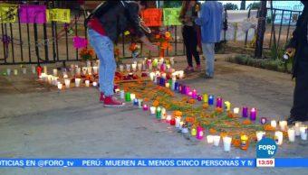 Con ofrendas recuerdan a víctimas del sismo del 19S
