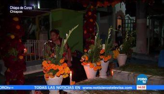 Velada para esperar a los fieles difuntos en Chiapas