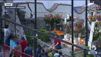 Daños en barda perimetral de panteón en Mixquic