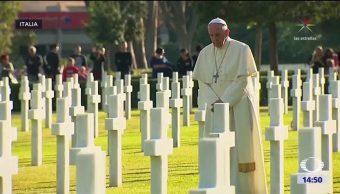 El papa conmemora el Día de Muertos en Roma