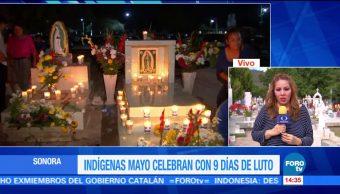 Indígenas de Sonora celebran con 9 días de luto