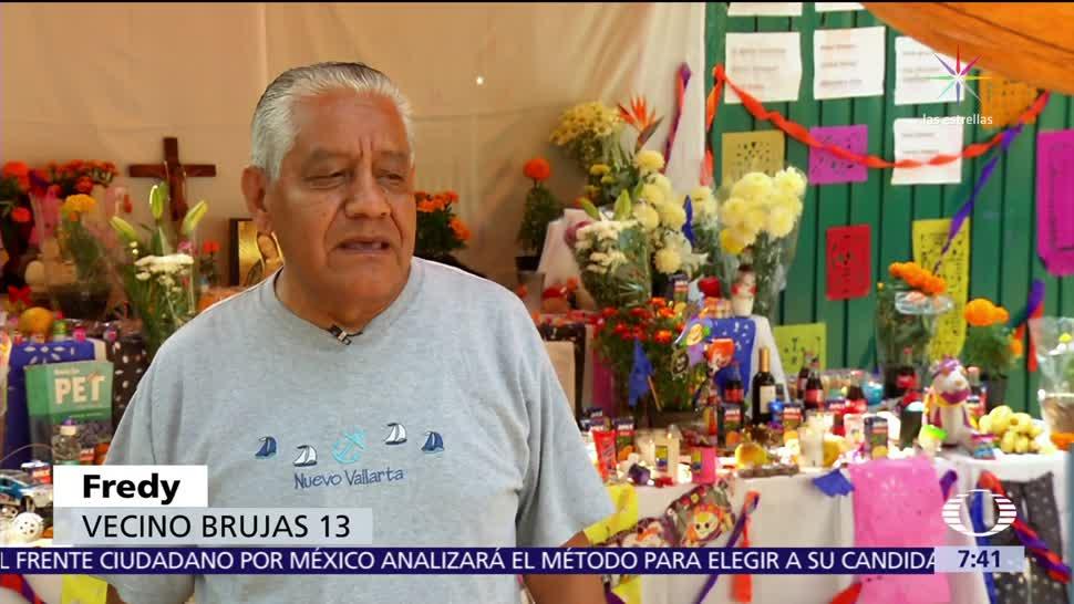 Ofrendas de Día de Muertos cubren zonas de derrumbe tras sismo CDMX