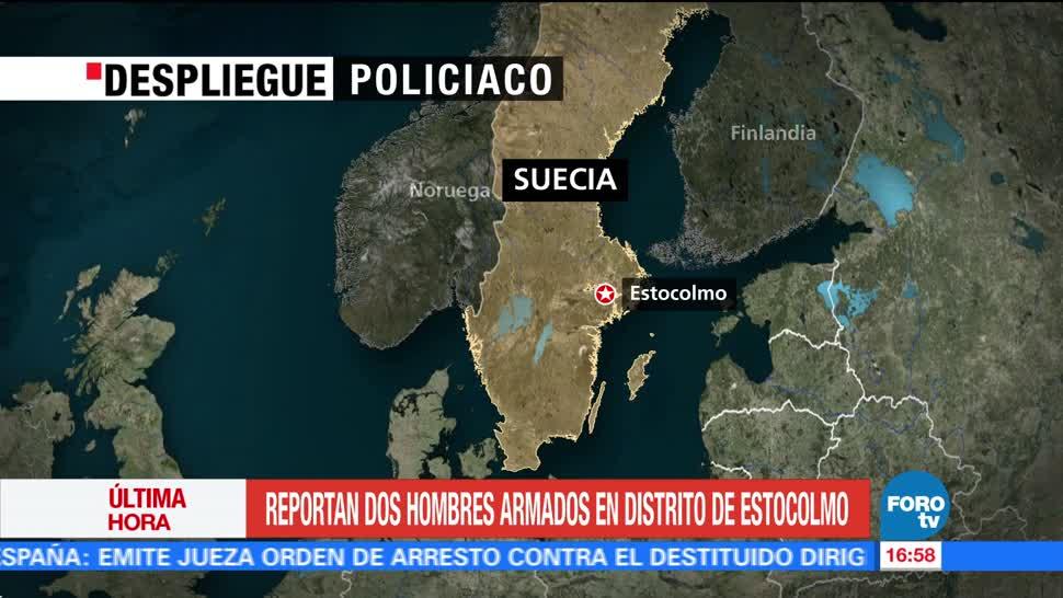 Reportan despliegue policiaco en Estocolmo por dos hombres armados