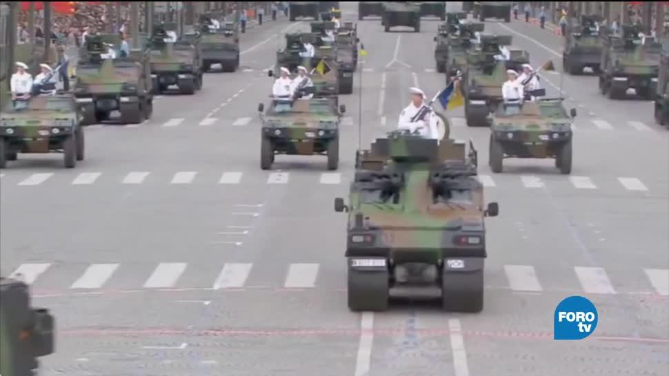 Macron presenta plan para construir frente común militar
