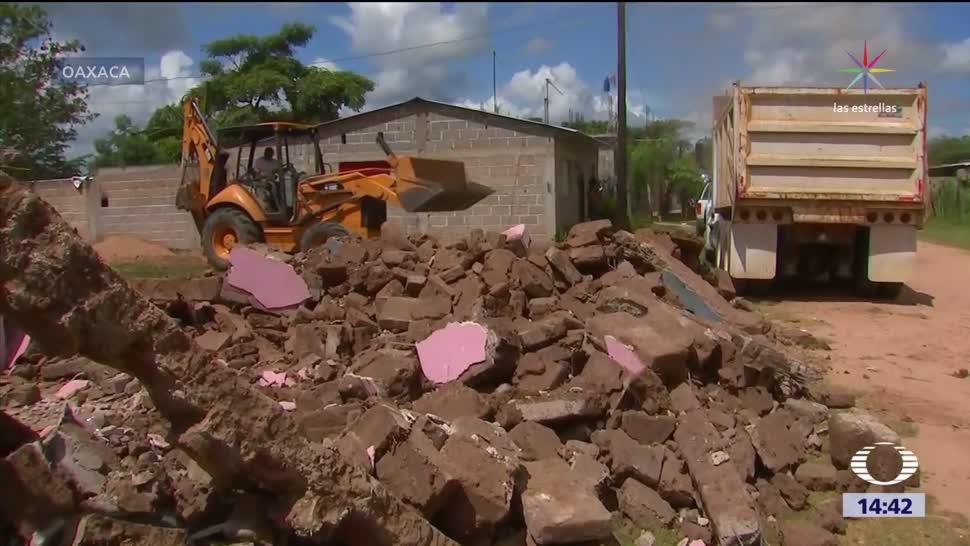 Termina la etapa de emergencia humanitaria en Oaxaca