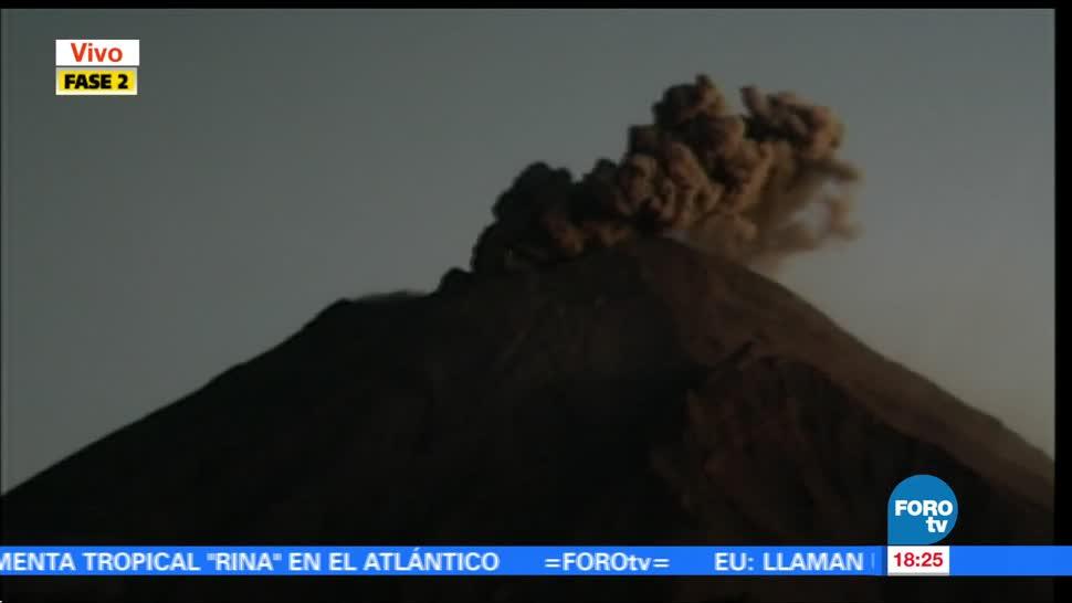 Volcán Popocatépetl aumenta actividad este martes