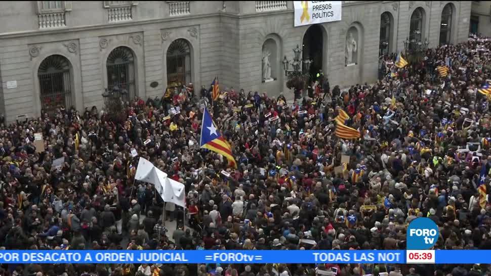 Nueva jornada de protestas en Cataluña por movimiento independentista