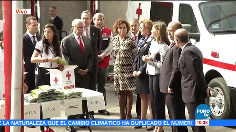 La reina Letizia visita la Cruz Roja Mexicana