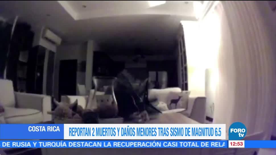Sismo de magnitud 6.5 en Costa Rica deja al menos dos muertos