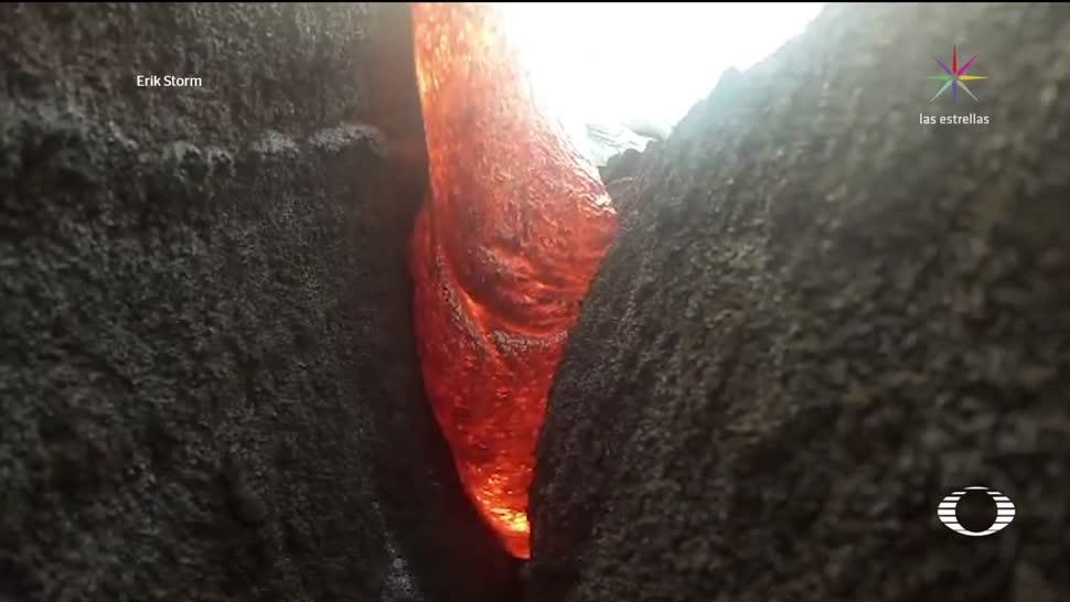 Cámara de video sobrevive a lava del volcán Kilauea