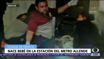 Nace bebé en la estación del Metro Allende, CDMX
