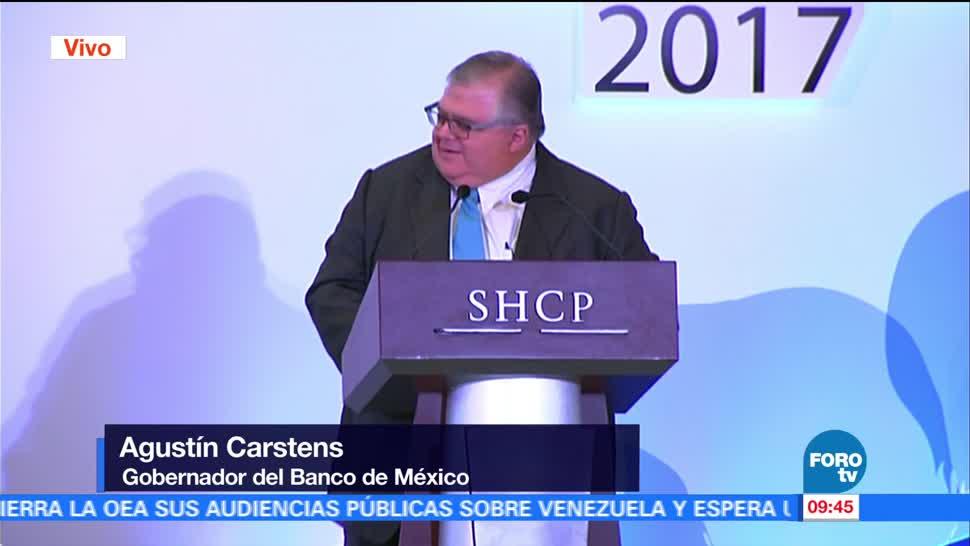 Agustín Carstens habla en la primera Cátedra de Inclusión Financiera