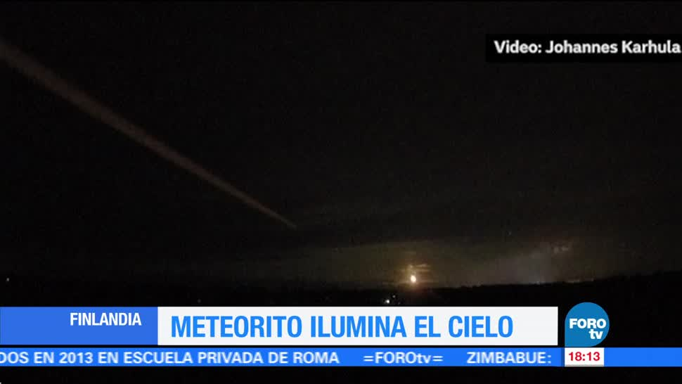 Meteorito ilumina el cielo de Finlandia