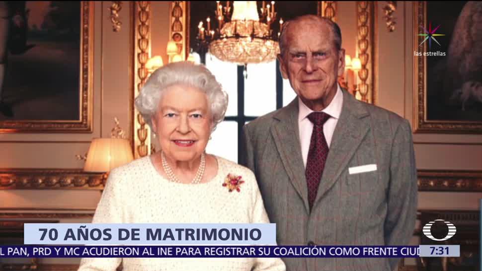 La reina Isabel II cumple 70 años de matrimonio