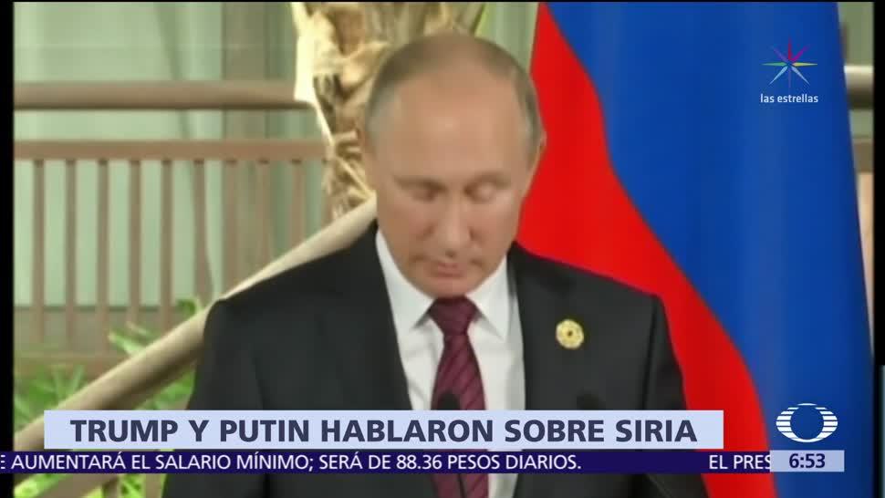 Trump habla con Putin sobre la guerra civil en Siria