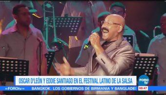 #LoEspectaculardeME: Oscar D' León y Eddie Santiago en el Festival Latino de la Salsa