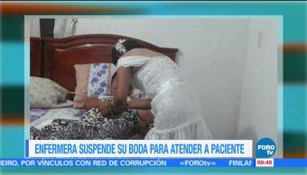Extra Extra: Enfermera suspende su boda para atender a paciente