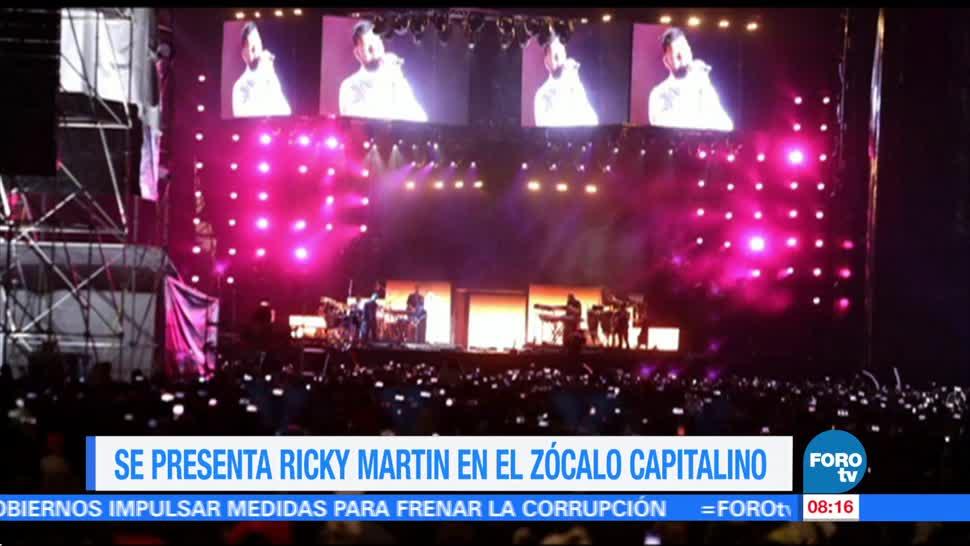 100 mil personas acuden concierto de Ricky Martin en el Zócalo