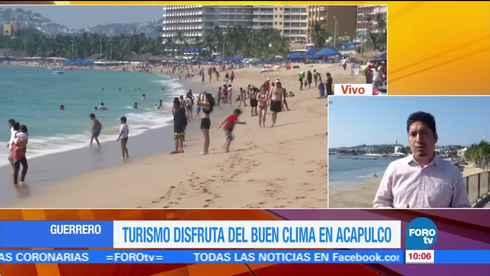 Turismo disfruta del buen clima en Acapulco