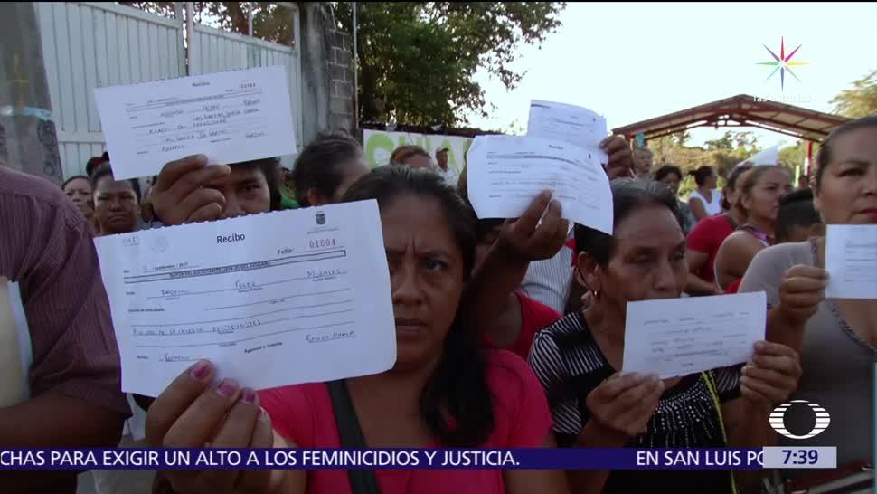 Damnificados del sismo del 7 de septiembre en Pijijiapan, Chiapas, reclaman apoyo