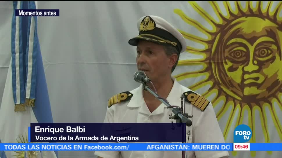 Armada argentina no ha detectado aún al submarino 'ARA San Juan'