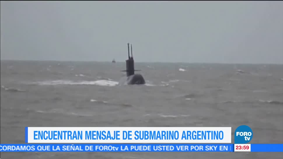 Revelan último mensaje del submarino argentinoRevelan último mensaje del submarino argentino