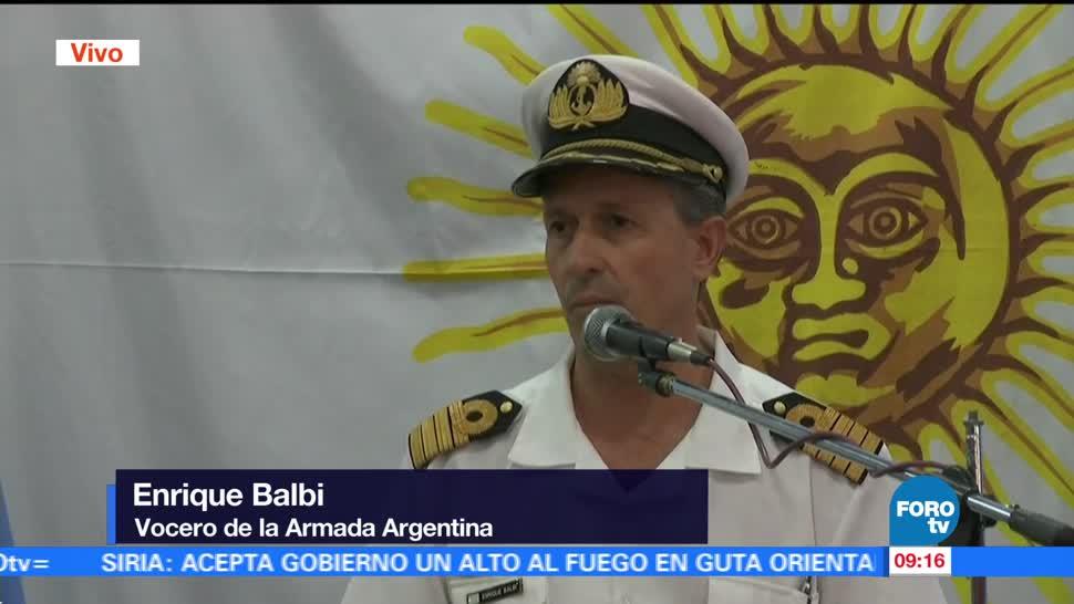 Ocho embarcaciones buscan al submarino ARA San Juan: Enrique Balbi