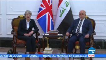 Theresa May realiza su primera visita a Irak