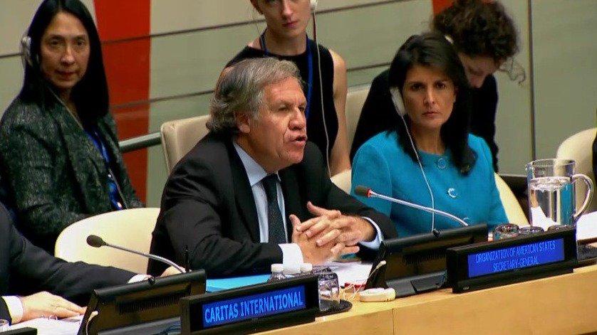 Almagro reclama ONU que se actúe Nicolás Maduro
