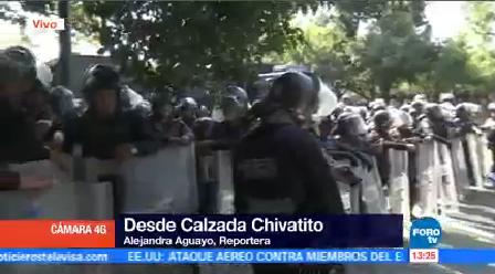 Granaderos Mantienen Cerco Chivatito Impedir Manifestantes